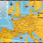 Der Camino in Europa (aus dem Pilgerpass)
